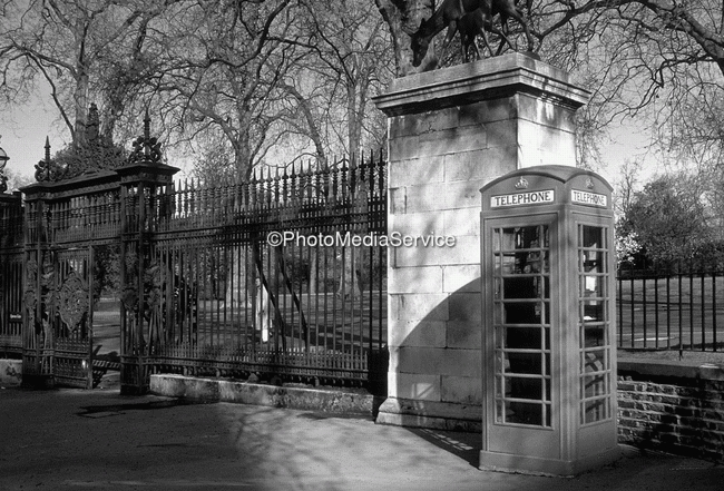 Gate kensington gardens london black white
