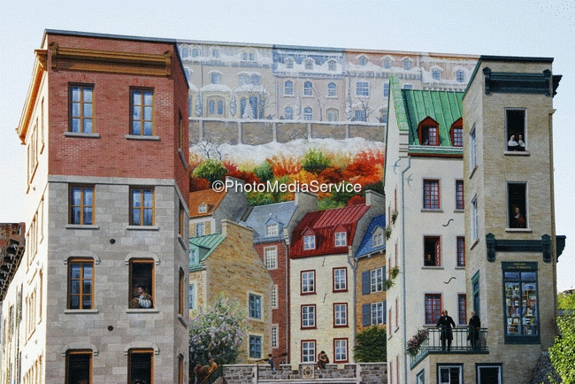 Photo Wall Painting Old Quebec Canada Quebec